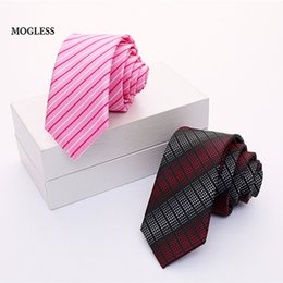 Wholesale mens cravat ties - Mogless 2018 New Men's Suit Tie Classic Men's Stripe Necktie Formal Wear Business Social Ties Mens Fashion Slim Ties Cravat Gift