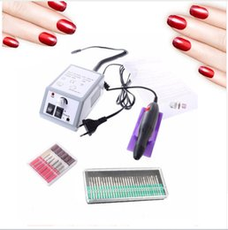 Canada Électrique Nail DrillManicure Set 15000RPM Machine + 30 pcs Nail Art Bit Nail File Accessoires Pédicure Stylo EU plug Attachment supplier plug bit Offre