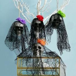 2019 ornamento del cortile Halloween Prop, Horror Fantasma Ornamenti Pendente Haunted House Yard Decorazione di Halloween Party Festival Pub Bar Skull Foam Drop Ornamento WSJ-1 ornamento del cortile economici