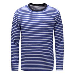 07dcaf789ad Discount mens long sleeve striped t shirts - Wholesale 2018 Brand Fashion  Luxury Designer Mens Breathable