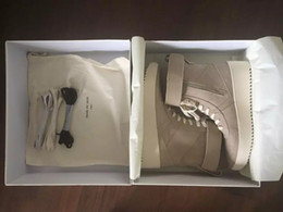 Wholesale Boots Cloth - FEAR OF GOD Military High-Top Outdoor Boots Sneakers Black Suede Gum Grey Nubuck Boot Fog Jerry Lorenzo Kanye black Nylon running shoes