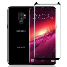 Wholesale plus version - Case Friendly Full Cover 3D Curved Tempered Glass For Samsung Galaxy S9 Plus S8 S7 Edge Note 9 8 Scaled Down Small Version Screen Protector
