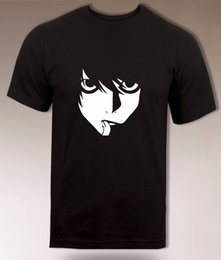 death note l Coupons - High Quality Custom L Death Note T Shirt, Best Detective, Anime T Men Print Cotton O Neck Shirts Casual Short Sleeve Shirt Tee