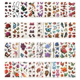 Canada 36 feuilles 3D tatouages temporaires imperméables pour les femmes fille Body Art manches bricolage autocollants glitter tatouage beauté exotique Offre