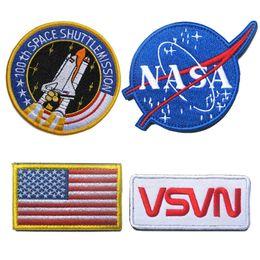 NASA 100th Space ShuttleMission US Bandeira Tático Remendo Moral Patches Hook Loop 3D Bordado Patches Emblema Do Exército Emblemas de
