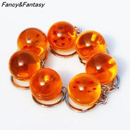 2019 brinquedos de carro estrela FancyFantasy Anime Goku Dragon Ball Super Chaveiro 3D 1-7 Estrelas Cosplay Bola De Cristal Da Corrente Chave Coleção Toy Presente chave anel brinquedos de carro estrela barato