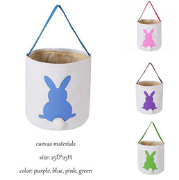 cartoon blue bunnies Coupons - INS Burlap Easter Bunny Baskets DIY Rabbit Bags Bunny Storage Bag Jute Rabbit Ears Basket Easter Gift Bag Rabbit Ears Put Easter Eggs