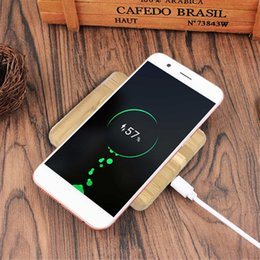 Wholesale Uk Bamboo - New design wooden wireless charger Bamboo 5w wireless charge pad qi standard for iphoneX Samsung s8