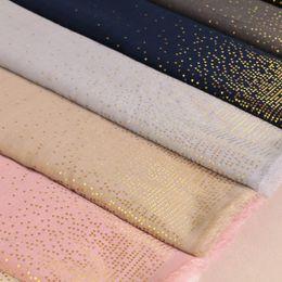 Bufanda de oro liso online-Laven mujer geometría trigon bufandas planchar oro brillo bufanda llano algodón musulmán hijab / chales 7 color 180 * 90 cm 10 unids / lote S18101904