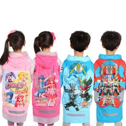 Wholesale Children Rain Coat Cartoon Animal - High Quality Student Rain Coats Baby Hooded Rainwear Children backpack Poncho Rainsuit Kids Cartoon Raincoat Clothes