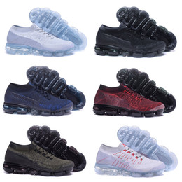 Wholesale Floor Free - High quality 2018 Air Men Women Running Shoes Cushion Surface Breathable Fly line Sports shoes Vapormax Sneakers size 5.5-11 Free shipping
