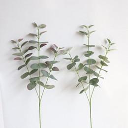 Canada 2019 nouveau Dollar D'argent Artificielle Eucalyptus Feuille Pour Soie Fleurs Magasin Ménage Dest Rustique Décoration Trèfle Plante cheap artificial flowers stores Offre