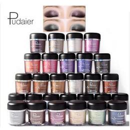 Maquiagem sombra pacote on-line-Pudaier brilho metálico sombra de olho shimmer sombra Charme 28 cores opcional embalagem cartonagem maquiagem fosco sombra DHLfree grátis