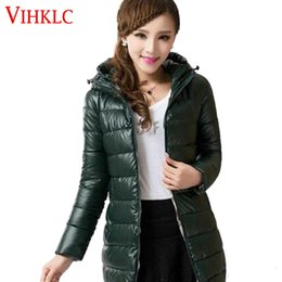 Wholesale Korean Down Coat Women - Womens Winter Coat 2016 Korean Style New Warm Cotton Down jacket Leisure Large size Hooded Jacket Fashion Slim Ladies Coat G131