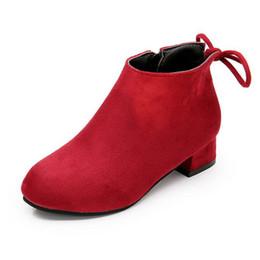 45725b62176 2019 botas de noche negras Zapatos para niños Chicas Otoño Invierno Chica  Sólido Zapatos para aumentar