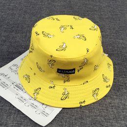 sombreros de sol fresco mujeres Rebajas Cubo gorra Hombre Mujer Algodón Unisex Banana Hat Bob Gorras Hip hop deportes al aire libre al aire libre Verano señoras Playa Sol Pesca Cubo sombreros