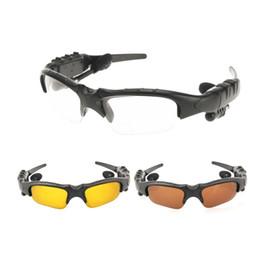 Occhiali da sole a mani libere online-VENDITA CALDA! 2017 più nuovi occhiali da sole auricolare bluetooth auricolare chiamata a mani libere per iPhone, in stock!