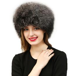 Wholesale Russian Style Hats - New 2017 Warm Women's Hat Faux Fur Crochet Beanies Caps Fox Fur Pompom Ball Pendant Russian Style Windproof Ear Prot F3