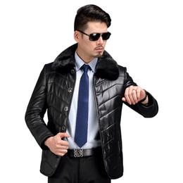 2019 casacos de casacos Casaco De Couro Real Mens Shearling Jaqueta De Couro Quente Inverno Sheep Shearling Casaco de Vison Casaco de Vison Forro De Lã de Qualidade de Luxo desconto casacos de casacos