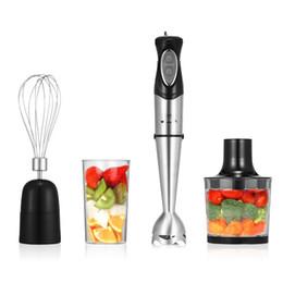 Ensemble de mélangeurs portatifs 4 en 1 avec hachoir à nourriture / fouet à oeufs / bécher sans BPA ? partir de fabricateur