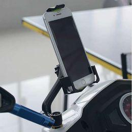 2019 настольные скутеры Мотоцикл зеркало держатель телефона стенд скутер заднего вида сотовый телефон стенд для 3.5-6.5 дюймов мобильных устройств дешево настольные скутеры