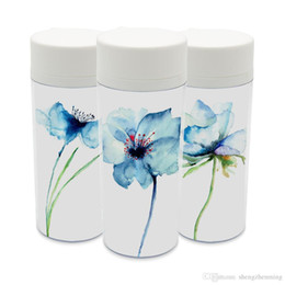 Wholesale plastic flowers orchid - Watercolor Flowers Plastic Insulated Kids Water Bottles 300ml Gift BPA Free Personalized Modern Minimalist Alpine Orchid Cup