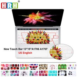 """Wholesale Laptop Skins 15 - HRH Rainbow Panda Hedgehog Silicone Keyboard Cover Skin For Macbook Pro 13"""" A1706 and 15"""" A1707 2016 VERSION With Touch Bar"""