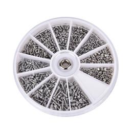 occhiali da orologeria Sconti Nuovo Arrvial !!! 1000pcs / set Viti assortite per strumento di orologeria per la riparazione di orologi