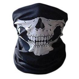 Wholesale Tube Bandanas Wholesale - New Skull Bandana Bike Camouflage Tube Neck Face Mask Headscarf Sport Headband Pick Skull Print Bandanas