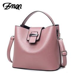 Wholesale China Ladies Dress - ZMQN Bucket Bag for Women Leather Crossbody and Shoulder Bag Mujer 2017 Fashion Lady Handbag China Cross Body Bag Wholesale A841