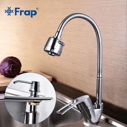 Wholesale Dispenser Tap - FRAP Solid Zinc alloy Kitchen Mixer with Liquid Soap Dispenser flexible Single lever Hole Water Tap Kitchen Faucet F43701-B+F405