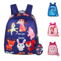 Wholesale Monkey Backpacks - 2018 Designer zoo rabbit monkey printing canvas backpacks girl teenagers Backpack Knapsack Waterproof computer school book Bag 180217003