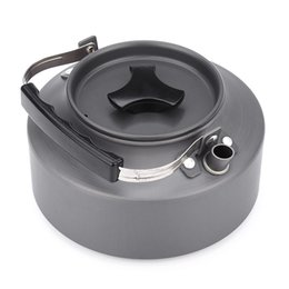 Wholesale water canteens - 1.1L Tea Kettle Anodised Aluminum Teapot Metal Tea Pot Cooker Camping Kettle Water Teakettle Outdoor Picnic Canteen Coffee Pot