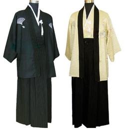 2019 trajes tradicionales japoneses Japones de la vendimia kimono hombre vestido tradicional japonés masculino yukata trajes de baile de escenario hombres quimono hombres samurai ropa rebajas trajes tradicionales japoneses