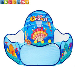 Wholesale Indoor Play For Kids - 2017 Ocean Sence Kids Tent For Children Kid Indoor Outdoor Play House Folding Baby Toy Tent Cute Baby Ball Pool Pit