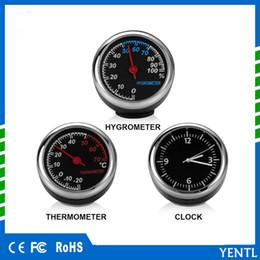freies Verschiffen 3pc / bag Auto-Automobil-Digitaluhr-Selbstuhr-Automobilthermometer-Hygrometer im Auto-Zusatz-Dekorations-Verzierungs-Taktgeber von Fabrikanten
