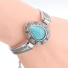 Wholesale Cheap Heart Chain Bracelet - whole saleBoho Bohemian Gypsy Cheap Fashion Jewelry New Design Tibetan Sliver Color Heart Shaped Charm Bracelet & Bangle for Gift