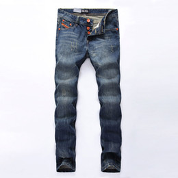 jeans dsel Promotion Mode Hommes Jeans dsel Marque Straight Fit Jeans Ripped italienne Designer 100% coton Distressed Denim Jeans Homme Drop Shipping