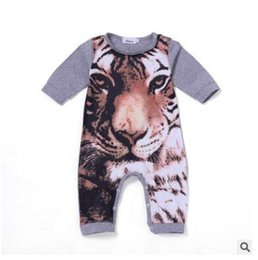 Wholesale Infant Clothes For Winter - Ins Baby Clothes 2018 Long Sleeve Cotton Tiger Printed Romper for 0-24M Newborn Baby Boys Girls Animal Clothes Infant Jumpsuit Romper