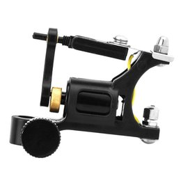 Wholesale Motor Works - Black Machined Aluminum Alloy Rotary Motor Tattoo Machine Liner Shader for Tattoo Supply Sound light Long Work