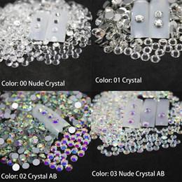 2019 gemme posteriori piatte Strass per unghie Nail Art Crystal Glass Stones Decorazione Artistica 3D SS3-SS10 Flat Back Non Hot Fix Gems unghie accessori sconti gemme posteriori piatte