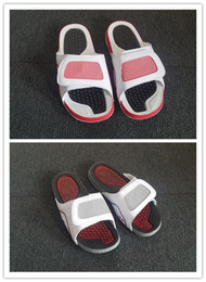 Wholesale Red Top Hotel - Wholesale 4 iv slippers white grey red Soft Sandals outdoor trainers sneakers sports walking men basketball top quality size 40-47