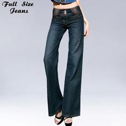 9057c736612 2017 Designer Fall Boyfriend Loose Jeans Plus Size Vintage Blue Wide Leg  Denim Jeans High Waist Bell Bottoms Pants Women 4Xl 34 plus size bell  bottom jeans ...
