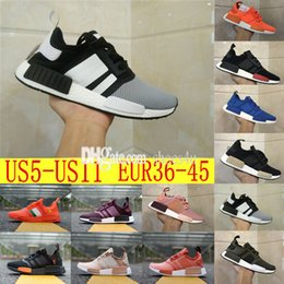 Wholesale Fall Fashion Collection - 2017 Hot SELL Fashion Sneakersnstuff NMD Datamosh Pack Collection R1 Primeknit Runner NMD R1 PK Tri-Color Pack Men Womens Shoes Size 36-45