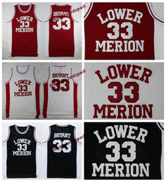 hot sale online 389de 23393 niedrige hemden Rabatt Mens Lower Merion Kobe Bryant High School Trikots  Basketball Shirts Günstige   33