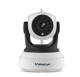 Cámara de seguridad vstarcam online-VStarcam HD Ip Camera Inalámbrico Wifi Wi-Fi Video Vigilancia Noche Cámara de seguridad Red Monitor para bebés en interiores C7824WIP