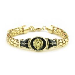 disegni catena in oro nero Sconti Braccialetto di medusa di modo degli Stati Uniti che ripara la personalità di marea degli uomini e delle donne dei gioielli di doratura di colore con gli accessori