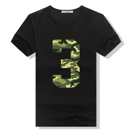 Wholesale Korea Camouflage - Free Shipping 3D T Shirt Men 95% Cotton Funny Print Creative Camouflage Cool Tops Tees 2018 Korea Style Summer Short Sleeve Shirts
