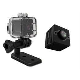 Wholesale SQ12 Mini cámara impermeable Shell P HD M inmersión Deportes DV videocámara DVR Detección de movimiento Night Vision Video grabadora de voz
