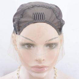 Novo estilo do top grade Swiss lace marrom escuro 13 * 4 perucas frente cap para fazer perucas de